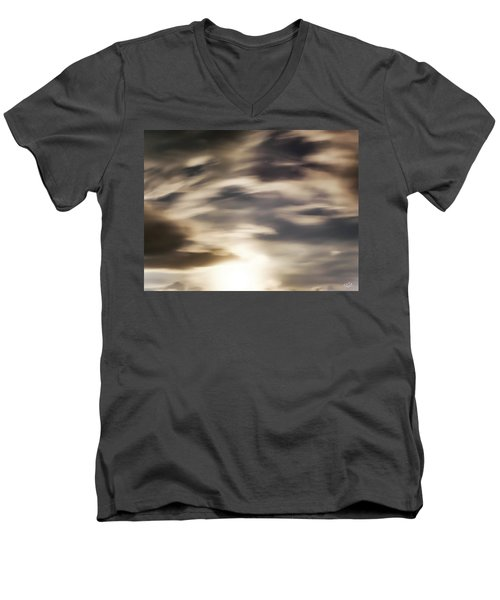 Men's V-Neck T-Shirt featuring the photograph Night Sky 1 by Leland D Howard
