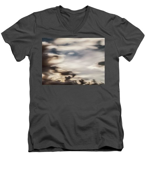 Men's V-Neck T-Shirt featuring the photograph Night Sky 2 by Leland D Howard