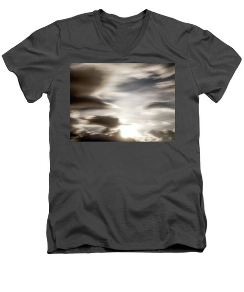 Men's V-Neck T-Shirt featuring the photograph Night Sky 4 by Leland D Howard