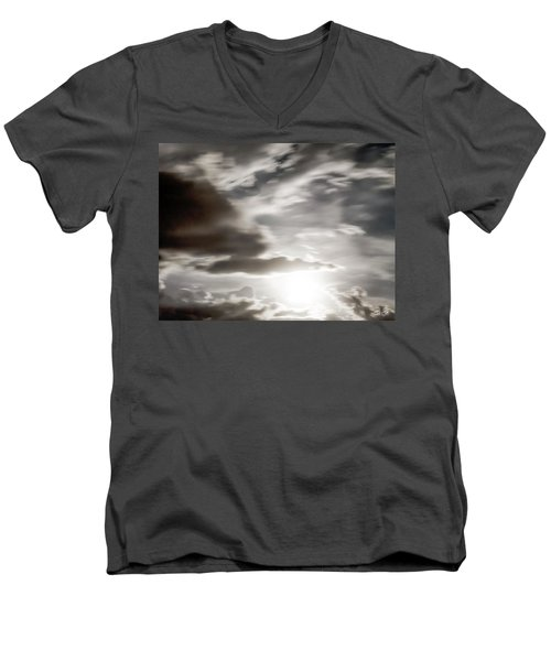 Men's V-Neck T-Shirt featuring the photograph Night Sky 5 by Leland D Howard
