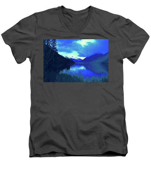 Night Sky Men's V-Neck T-Shirt by Joe Burns