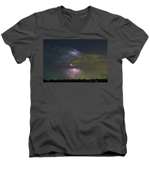 Men's V-Neck T-Shirt featuring the photograph Night Tripper by James BO Insogna