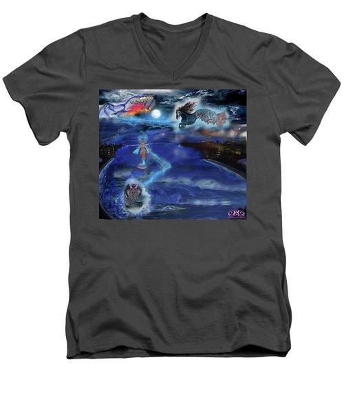 Night Walk Men's V-Neck T-Shirt