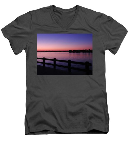 Men's V-Neck T-Shirt featuring the photograph Night's Calling by Allen Beilschmidt