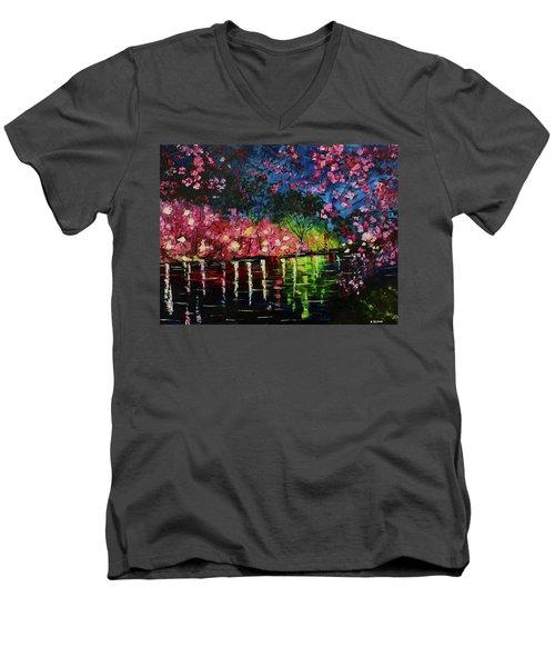 Nighttime Pink Men's V-Neck T-Shirt