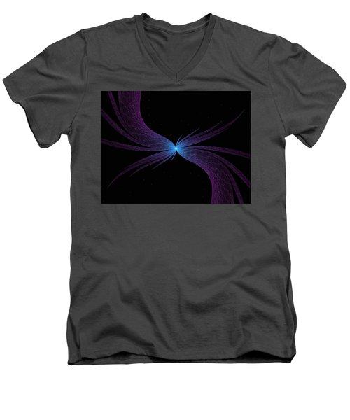 Nightwing Men's V-Neck T-Shirt by Lea Wiggins
