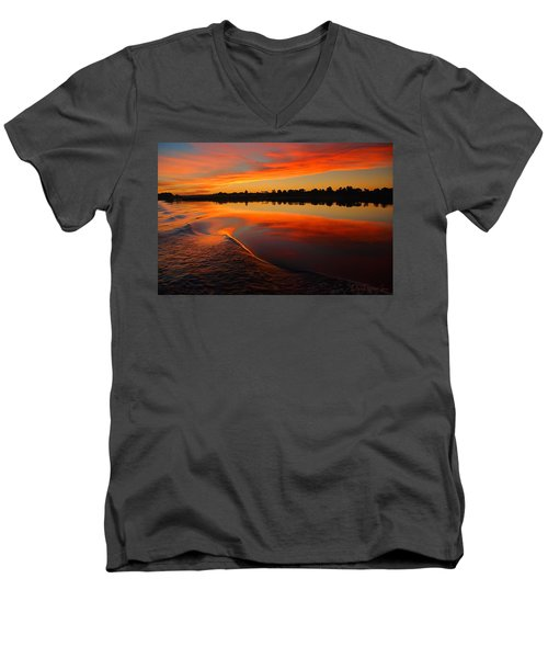 Nile Sunset Men's V-Neck T-Shirt