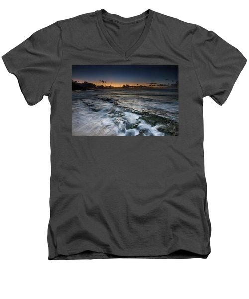 Nimitz Beach Sunrise Men's V-Neck T-Shirt