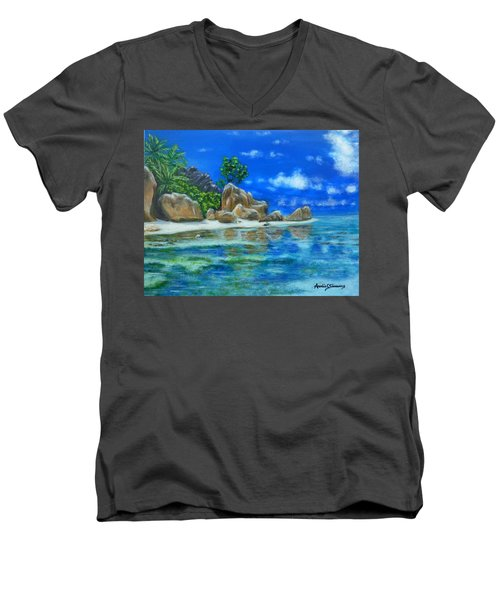 Nina's Beach Men's V-Neck T-Shirt