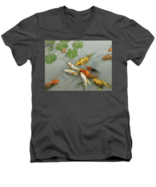 Nishikigoi 2 Men's V-Neck T-Shirt