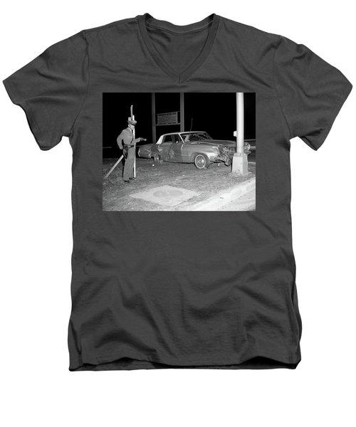 Nj Police Officer Men's V-Neck T-Shirt by Paul Seymour