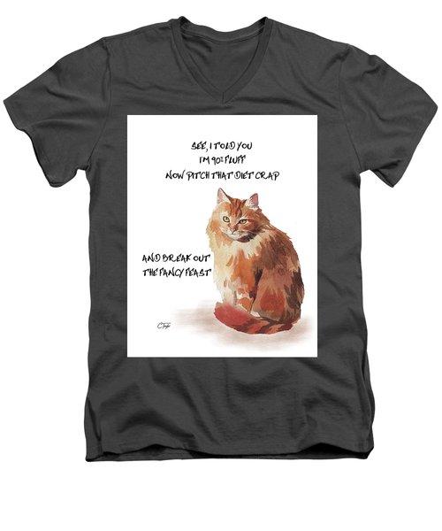 No Fat Cat Men's V-Neck T-Shirt