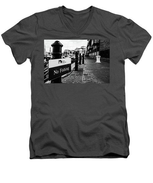 No Fishing Men's V-Neck T-Shirt