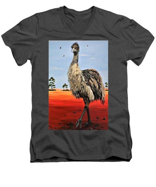 No Flies On Me Men's V-Neck T-Shirt