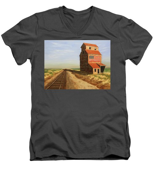 No Grain, No Train Men's V-Neck T-Shirt