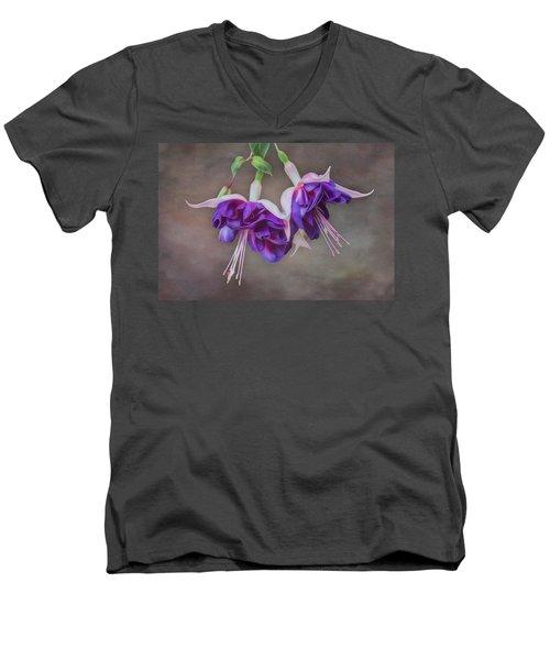 Purple Fuchsia Men's V-Neck T-Shirt