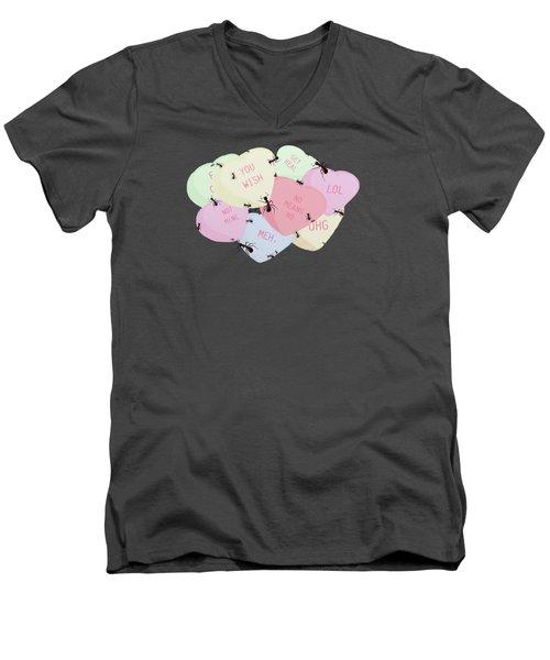 No Love Here Men's V-Neck T-Shirt