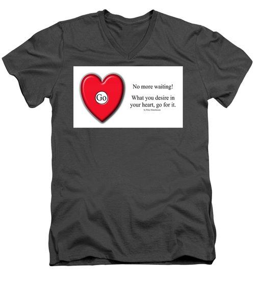 No More Waiting Men's V-Neck T-Shirt