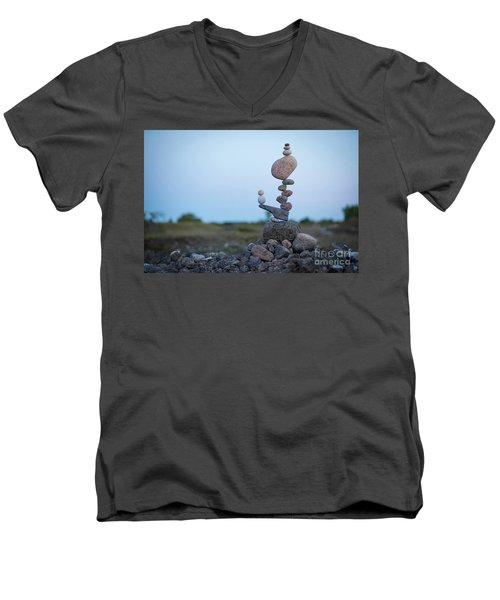 Zen Stack #2 Men's V-Neck T-Shirt