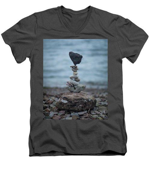Zen Stack #6 Men's V-Neck T-Shirt
