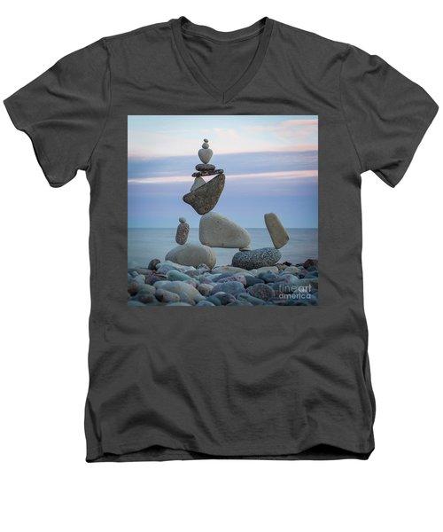 Zen Stack #7 Men's V-Neck T-Shirt