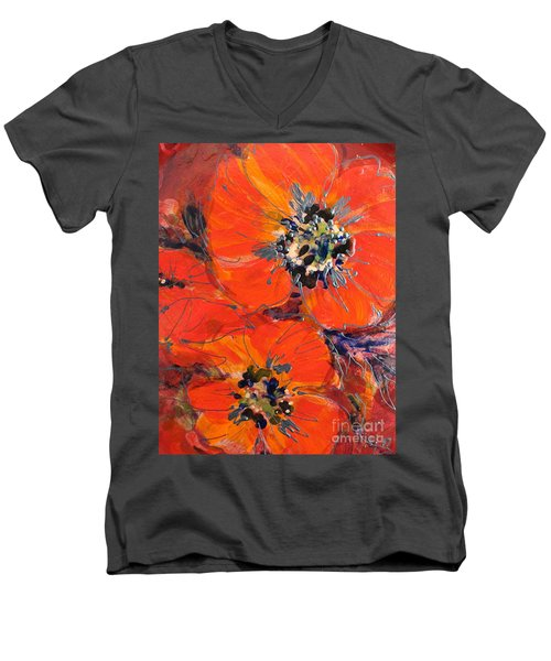 Magic Poppy Men's V-Neck T-Shirt