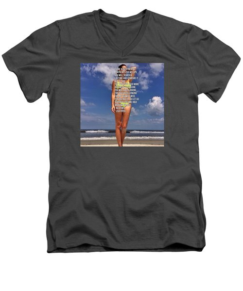 Men's V-Neck T-Shirt featuring the photograph No Other by Lisa Piper