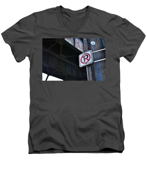 No Parking Men's V-Neck T-Shirt