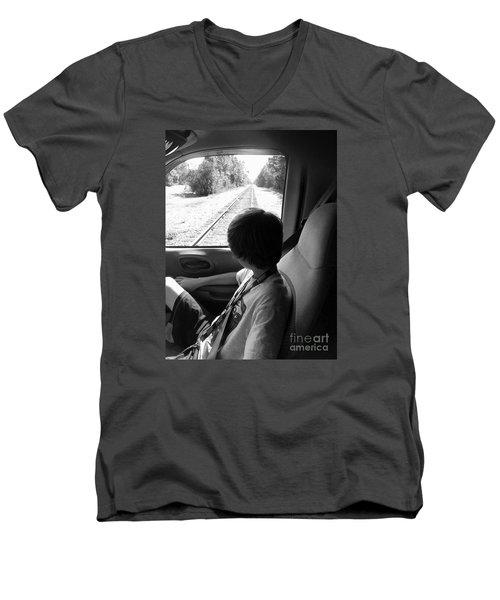 No Train Coming Men's V-Neck T-Shirt