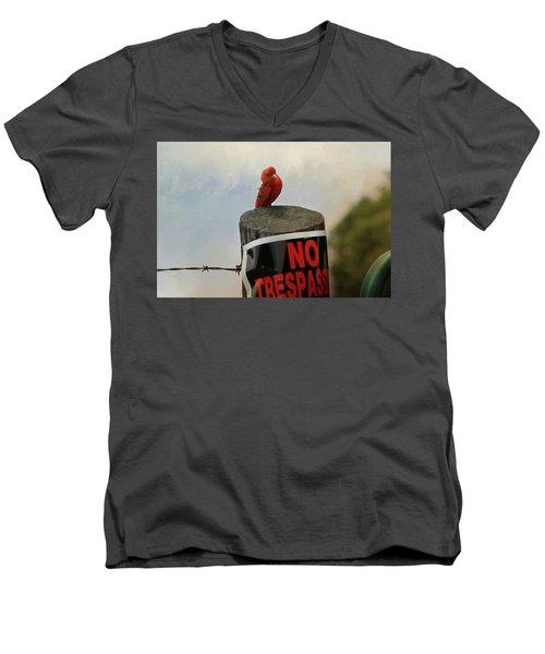 No Trespassing Men's V-Neck T-Shirt by TnBackroadsPhotos