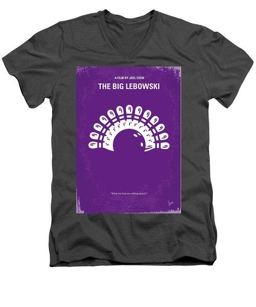 No010 My Big Lebowski Minimal Movie Poster Men's V-Neck T-Shirt