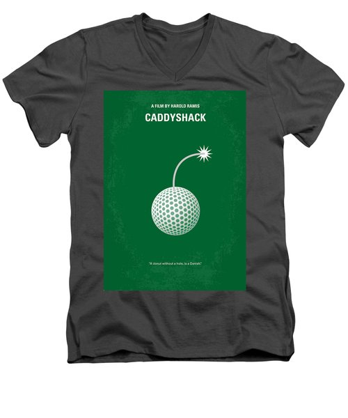 No013 My Caddy Shack Minimal Movie Poster Men's V-Neck T-Shirt