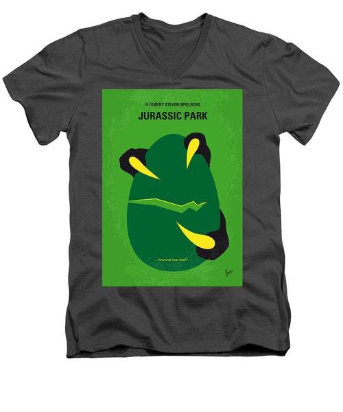 No047 My Jurassic Park Minimal Movie Poster Men's V-Neck T-Shirt