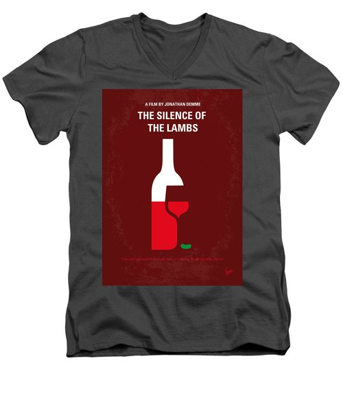 No078 My Silence Of The Lamb Minimal Movie Poster Men's V-Neck T-Shirt by Chungkong Art
