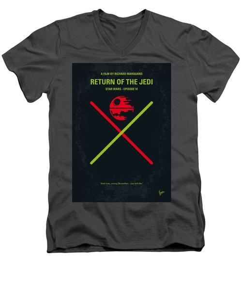 No156 My Star Wars Episode Vi Return Of The Jedi Minimal Movie Poster Men's V-Neck T-Shirt