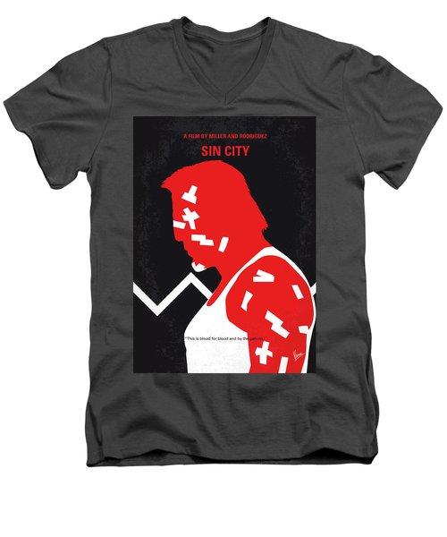 No304-1 My Sin City Minimal Movie Poster Men's V-Neck T-Shirt