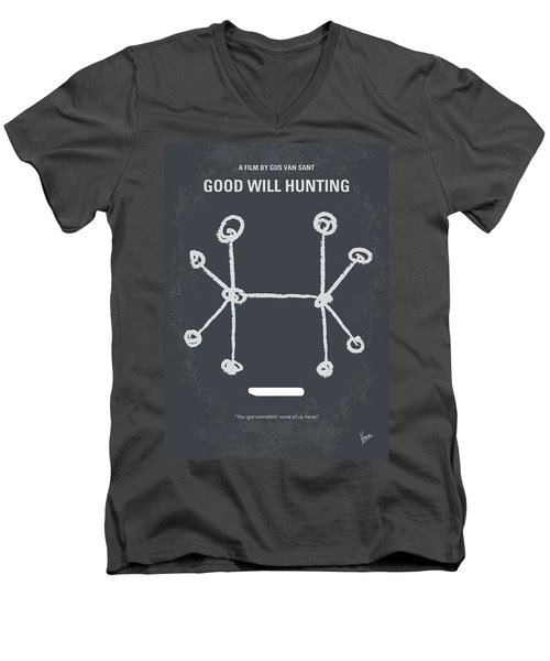 No461 My Good Will Hunting Minimal Movie Poster Men's V-Neck T-Shirt