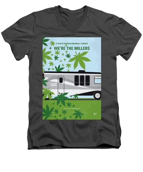 Men's V-Neck T-Shirt featuring the digital art No763 My We Are The Millers Minimal Movie Poster by Chungkong Art