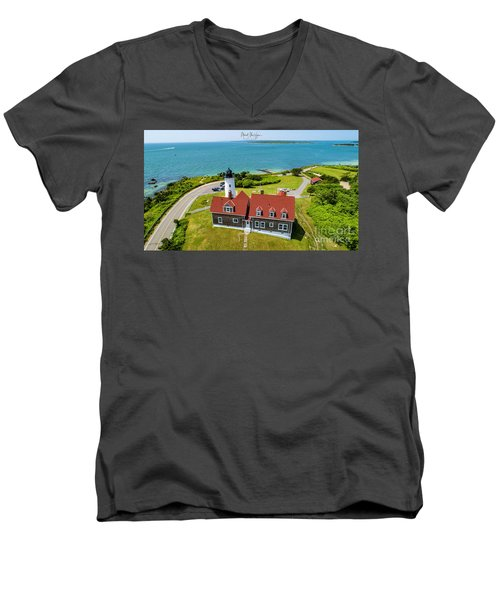 Nobska Light House  Men's V-Neck T-Shirt