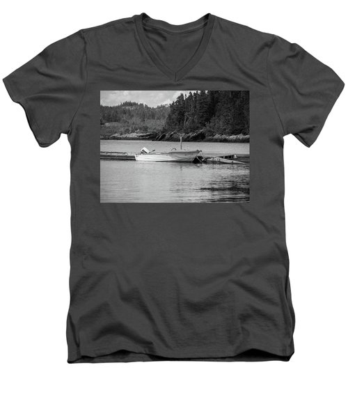 Noca Scotia In Black And White  Men's V-Neck T-Shirt