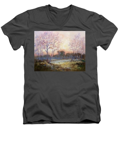Nocturnal Landscape Men's V-Neck T-Shirt by Irek Szelag
