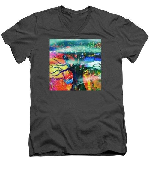 Noel Men's V-Neck T-Shirt by Fania Simon