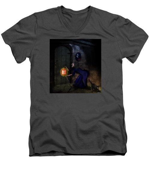 Noise In The Night Men's V-Neck T-Shirt by Ken Morris