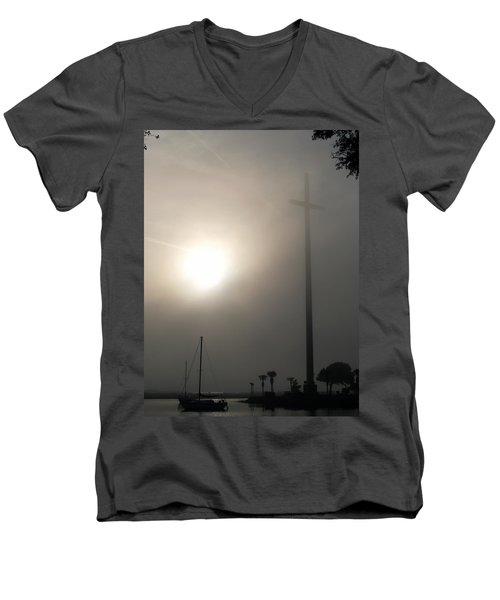 Nombre De Dios - The Great Cross Men's V-Neck T-Shirt