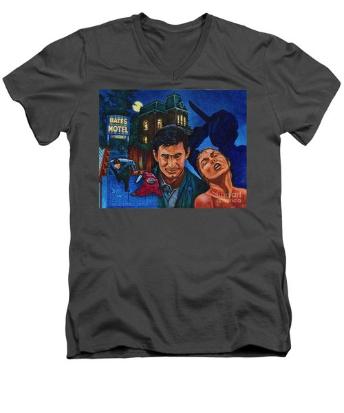 Men's V-Neck T-Shirt featuring the painting Norman by Michael Frank