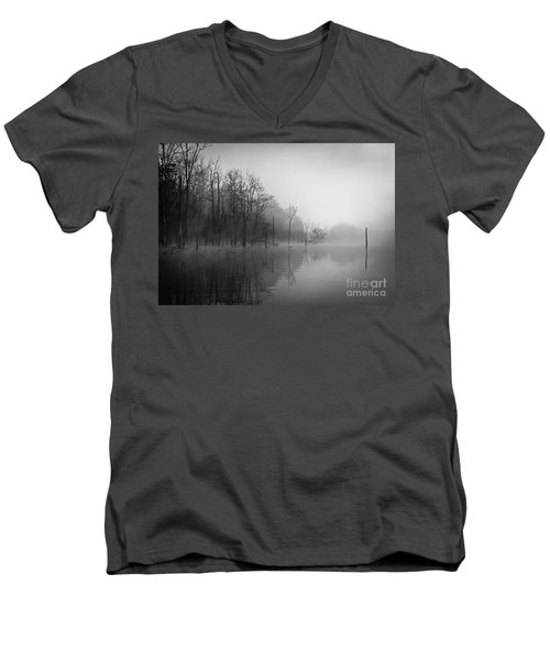 Norris Lake April 2015 3 Men's V-Neck T-Shirt by Douglas Stucky