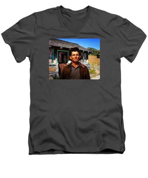 Norris' New Digs Men's V-Neck T-Shirt by Timothy Bulone