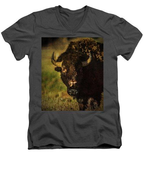 North American Buffalo Men's V-Neck T-Shirt