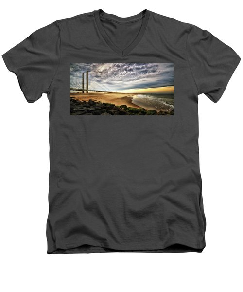 North Beach At Indian River Inlet Men's V-Neck T-Shirt