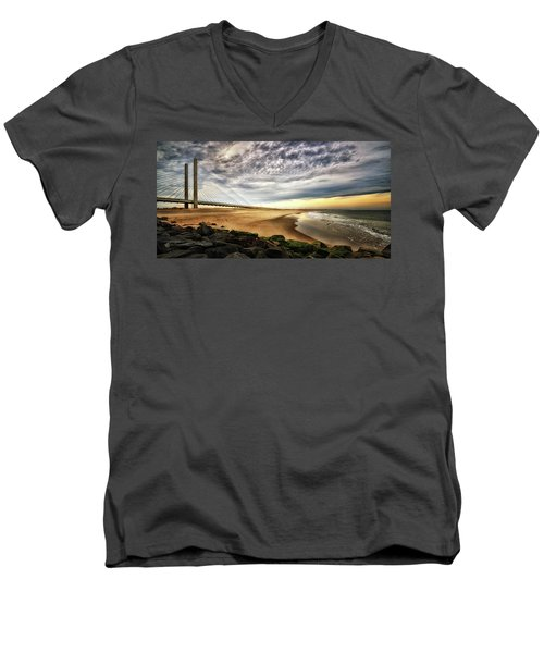 North Beach At Indian River Inlet Men's V-Neck T-Shirt